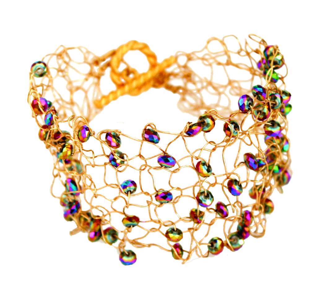 Annemarie Pomp Wire Knit Bracelet example 1