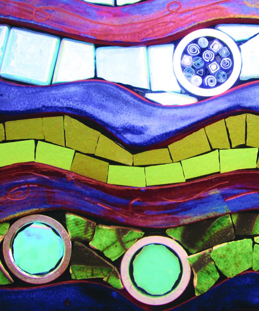Jeannette Brossart mixed-media mosaic class