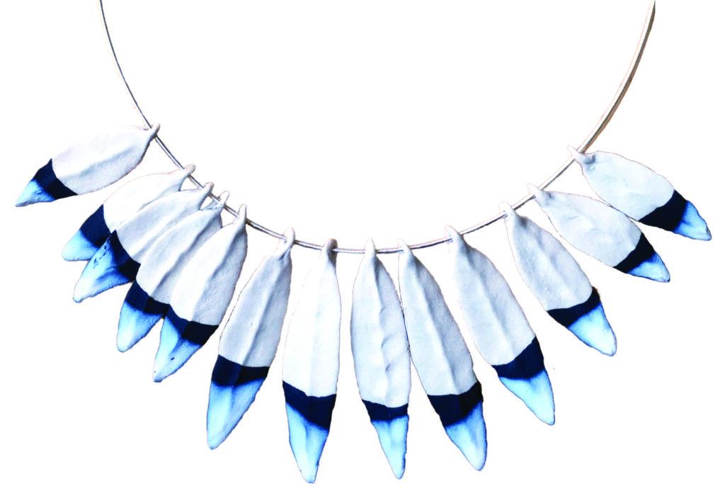 Jen Allen ceramic feathers jewelry