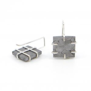 Henbury Iron Meteorite Tile Earrings - Wendy Jo New