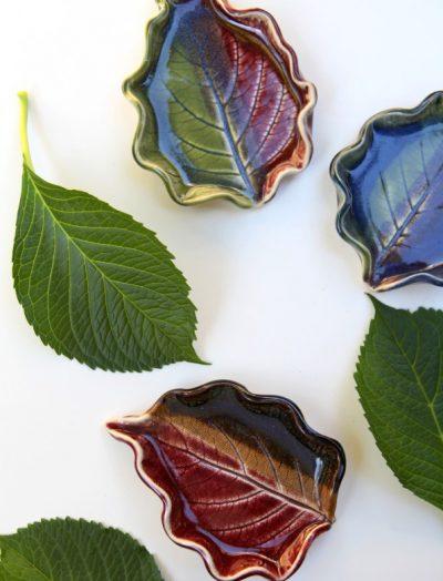 Adult Ceramics Class Leaf Imprints Pottery