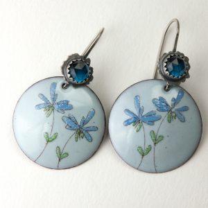 Ruffle flower in Blue - Tammi Sloan