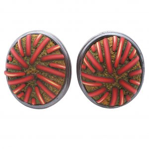 Pocosin Arts Gallery - Ford & Forlano, Button Earrings